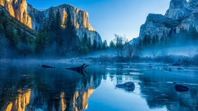 Wallpaper Yosemite, El Capitan, HD, 4k wallpaper, winter, forest, OSX, apple, mountains, Nature ...