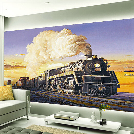 Rail Mural Download Train Wallpaper Mural Gallery