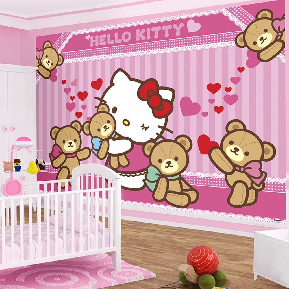 Wallpaper Kamar Hello Kitty Download Hello Kitty Wallpaper For Walls Gallery