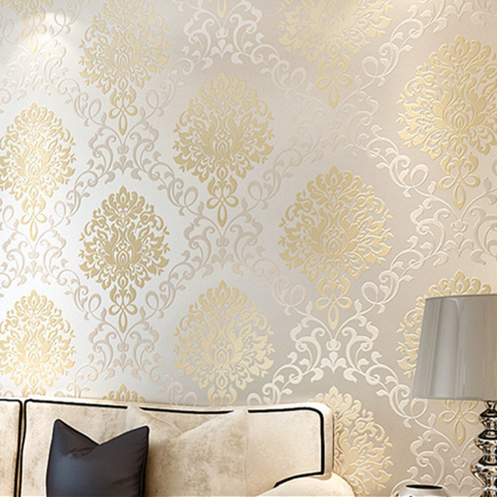 Goedkoop Landelijk Interieur Download Silver And Gold Damask Wallpaper Gallery