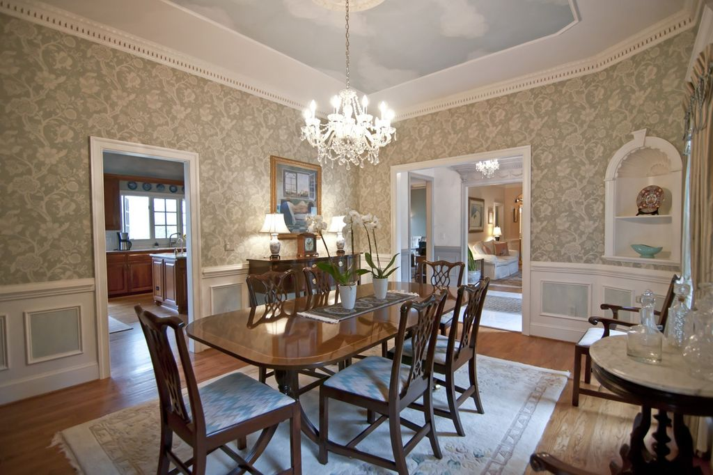 Dining Room Wallpaper With Chair Rail Download Wallpaper Dining Room Chair Rail Gallery