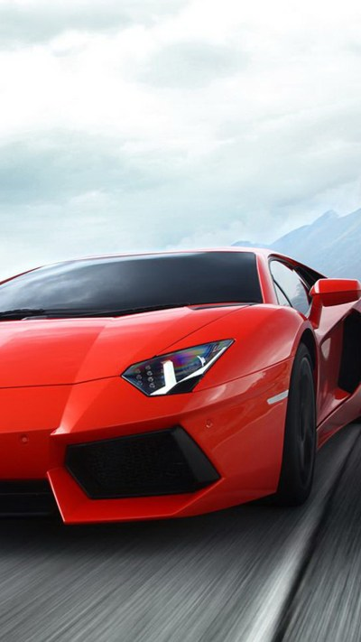 Red Lamborghini aventador 02 HD Wallpaper iPhone 6 plus - wallpapersmobile.net