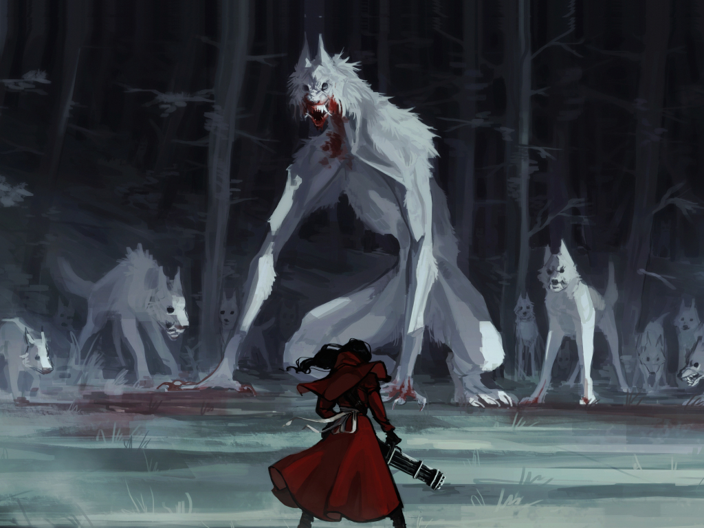 Cute Wallpaper For S5 Desktop Wallpaper Red Riding Hood Wolf Fantasy Art Hd