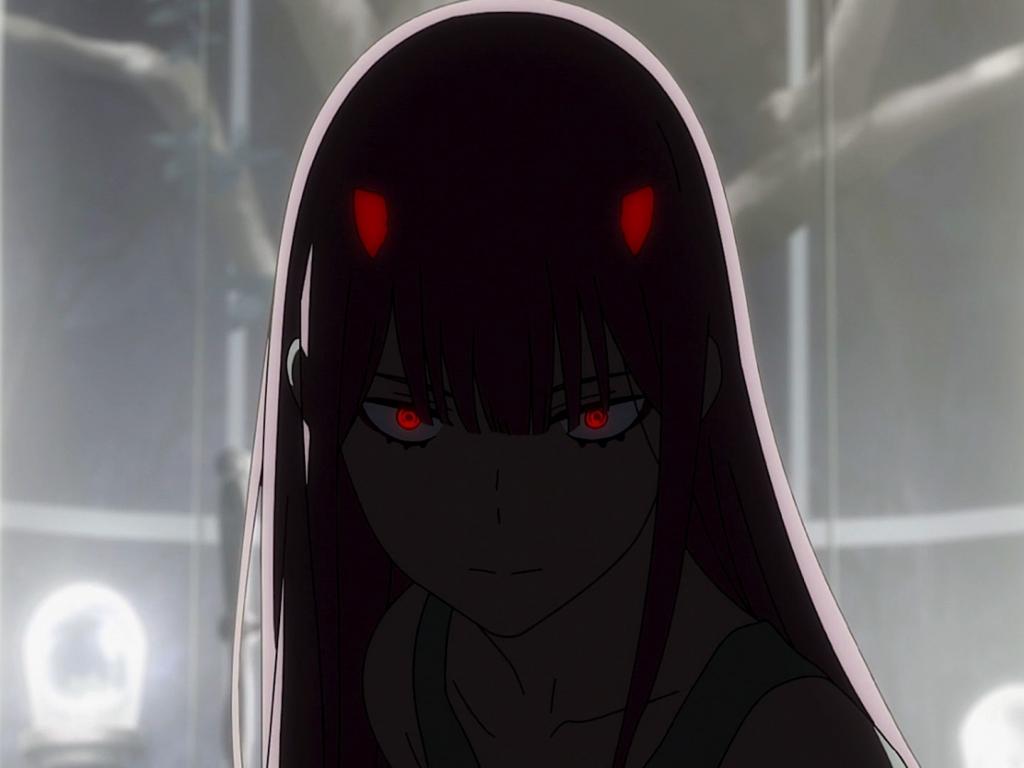 Download Cute Wallpapers For Pc Desktop Wallpaper Dark Red Eyes Zero Two Anime Girl Hd