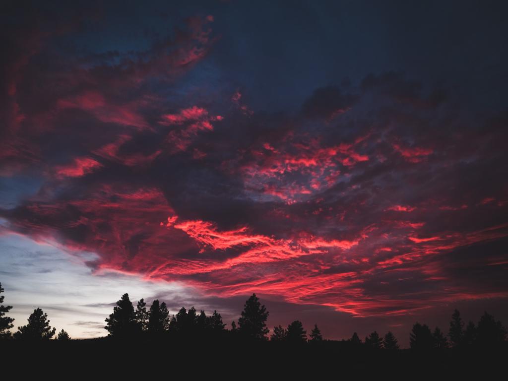 Mobile Cute Wallpapers Samsung Desktop Wallpaper Colorful Clouds Sunset Dark Tree Hd