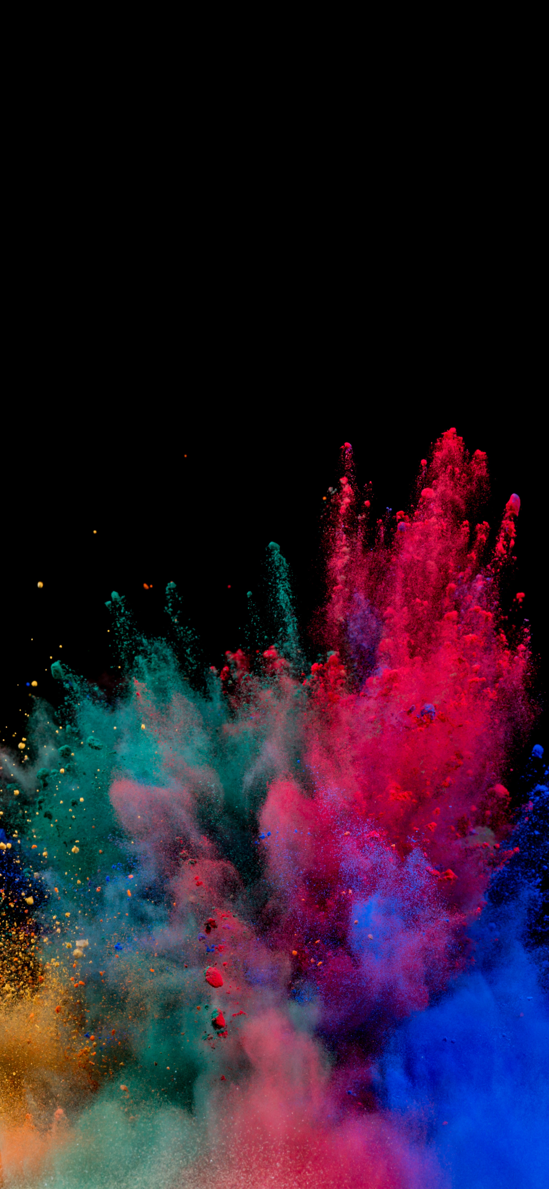 Wallpaper 4k Samsung Galaxy S8 Girls Download 1125x2436 Wallpaper Colors Blast Explosion