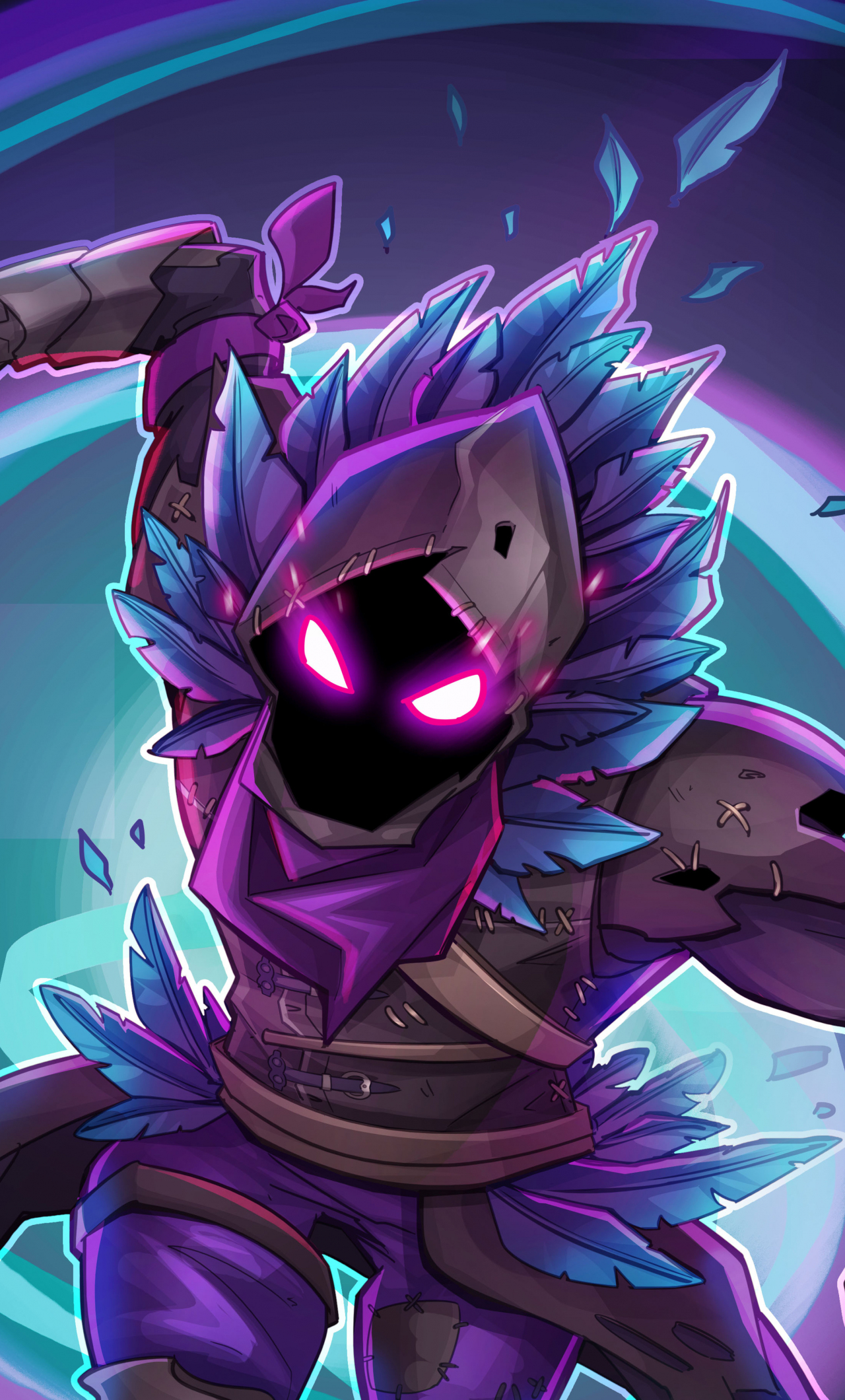 Iphone X Fortnite Wallpapers Download 1280x2120 Wallpaper Raven Fortnite Battle Royale