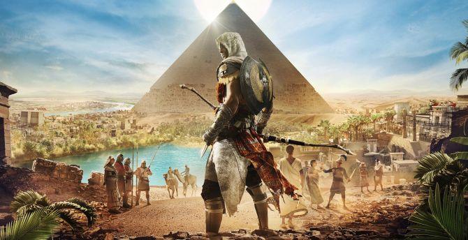 Egypt Pyramids Hd Wallpapers Desktop Wallpaper Assassin S Creed Origins Egypt