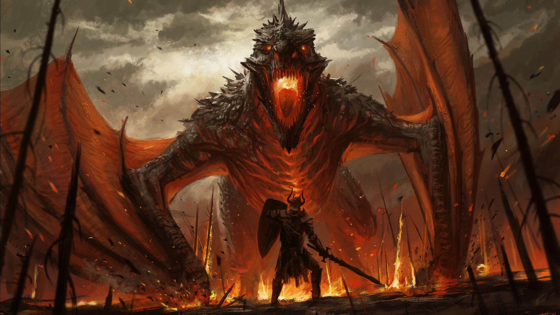 Hd Superhero Wallpapers For Pc Desktop Wallpaper Dragon And Warrior Fantasy Art Hd