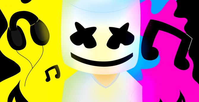 Anime Dj Wallpaper Desktop Wallpaper Marshmello Music Colorful Hd Image