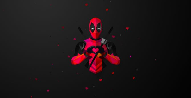 Large Size Wallpapers Of Cars Desktop Wallpaper Low Poly Deadpool Minimal Marvel