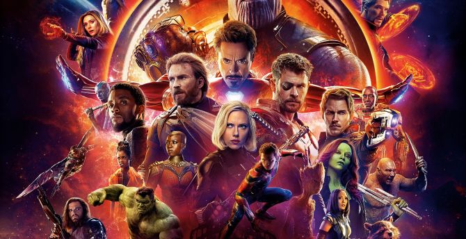 Wallpaper 4k Samsung Galaxy S8 Girls Desktop Wallpaper Avengers Infinity War Movie Poster