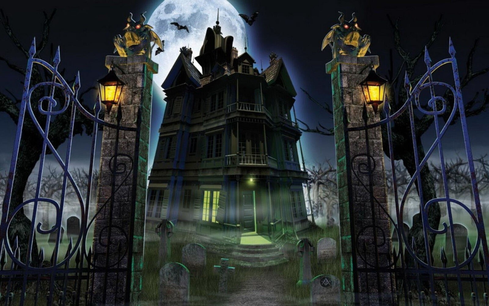 Haunted Mansion Iphone Wallpaper Helloween Hd Wallpapers Free Download