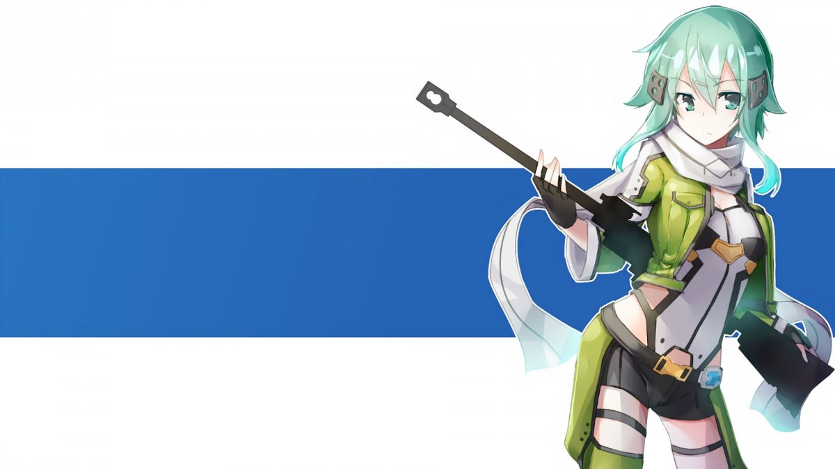 Cute Anime Girl Gun Wallpaper Sinon Asada Shino Hd Wallpapers Download