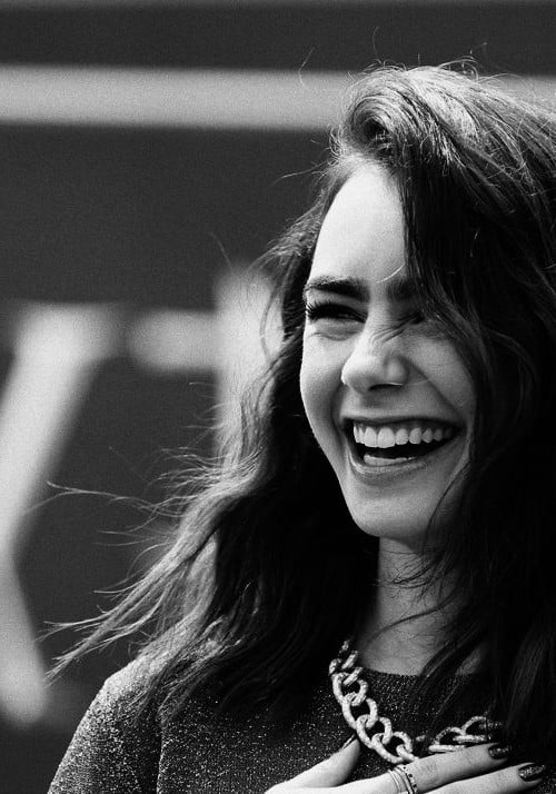 Laughing Girl Hd Wallpaper 34 Lily Collins Hd Wallpapers High Quality Download