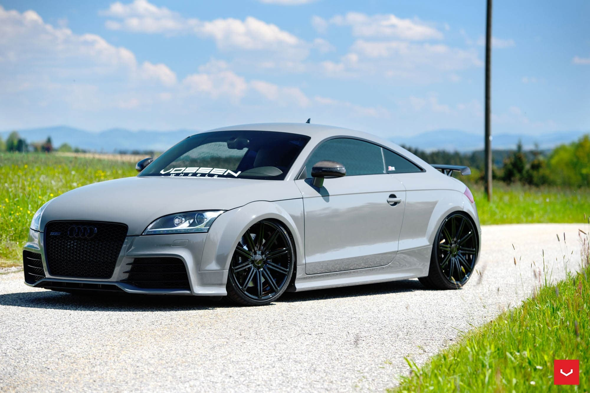 Audi Concept Car Wallpaper Audi Tt Rs Tuning Wallpapers Hd Sport Vossen Wheels