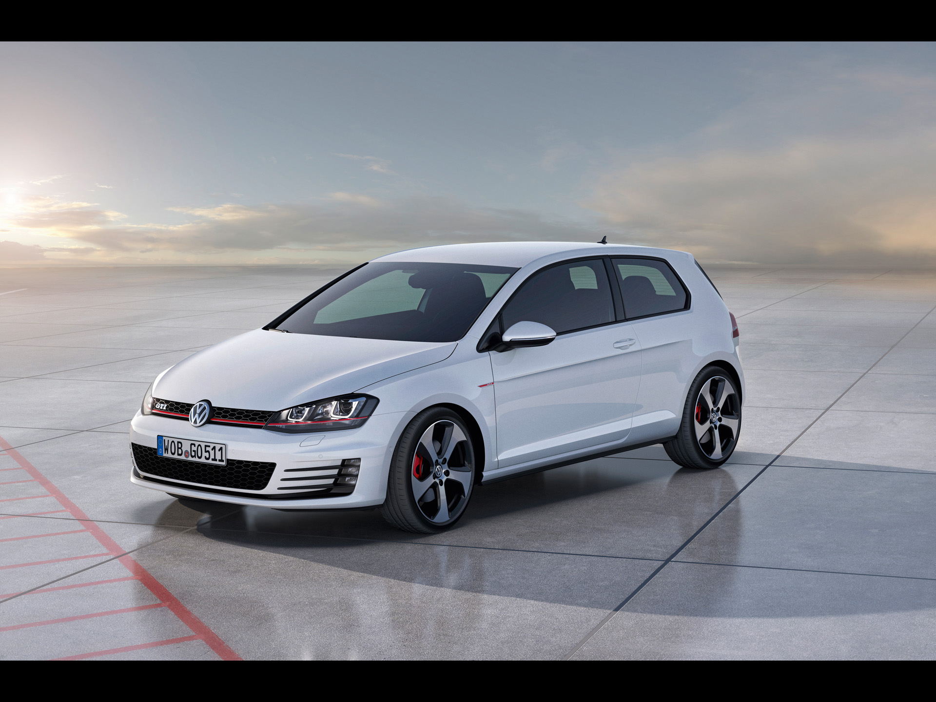 Vw Gti Wallpaper Iphone 2012 Volkswagen Golf 7 Gti Concept Static Side Angle