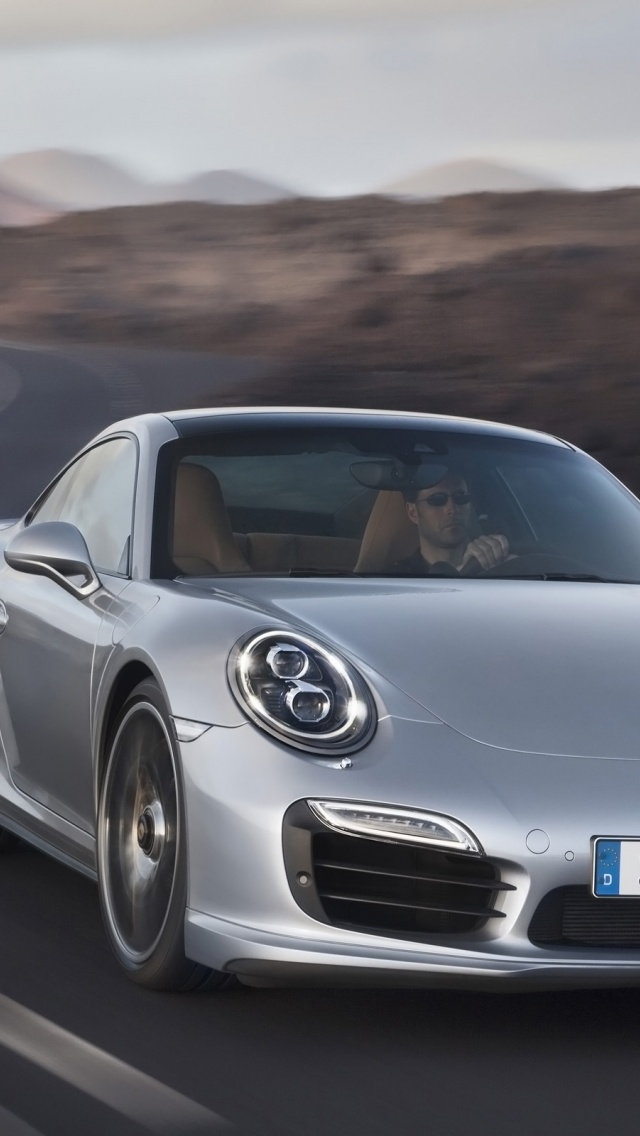 Iphone X Stock Wallpaper Download 640x1136 2013 Porsche 911 Turbo Motion Front Iphone 5