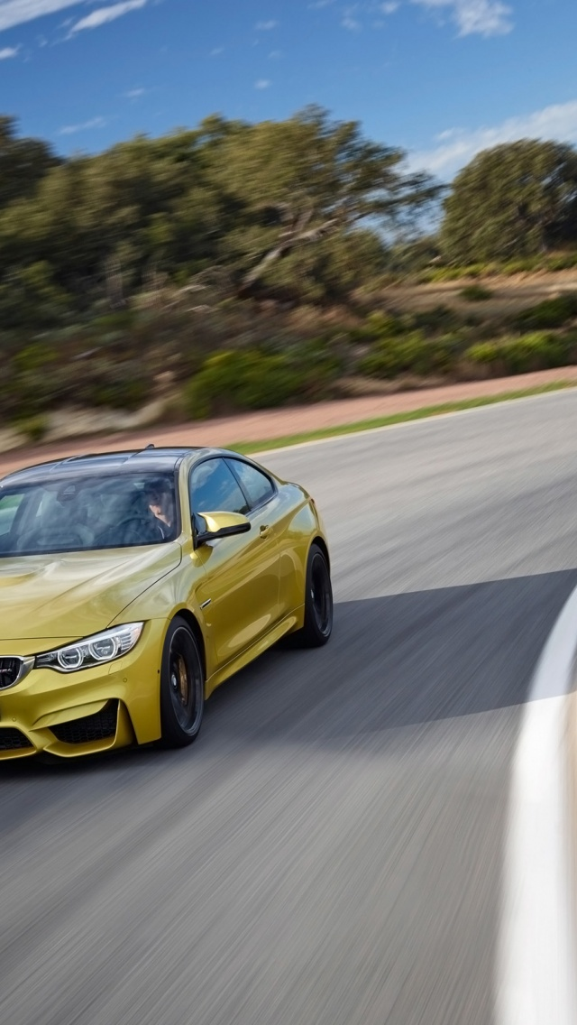 Bmw M Wallpaper Iphone X 640x1136 2014 Bmw M4 Coupe Motion Front Angle Iphone 5