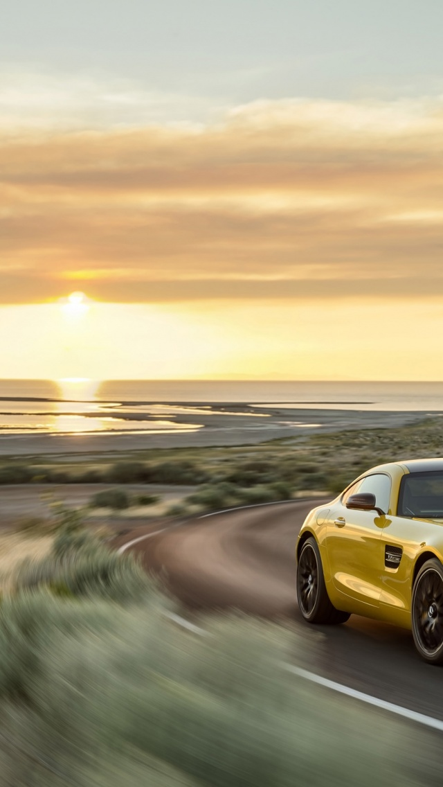Wallpapers Hd Iphone X 640x1136 2015 Mercedes Amg Gt Solarbeam Motion Front Angle