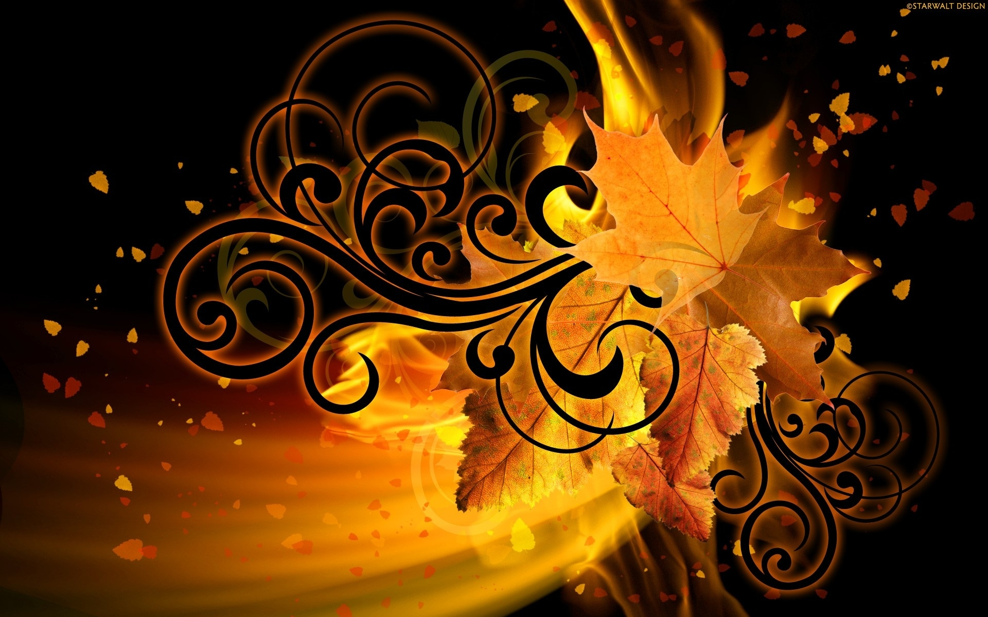 Fall Leaves Wallpaper For Ipad Abstract Autumn Digital Art Wallpapers Abstract Autumn