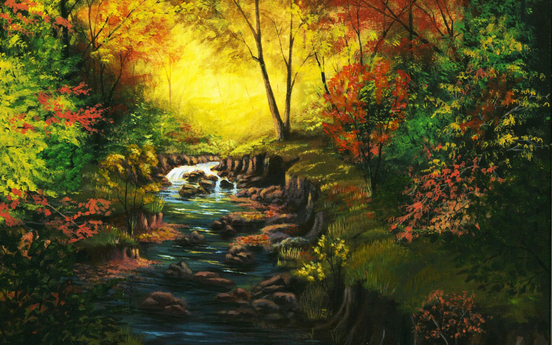 Animated Wallpaper For Tablet Amazing Autumn Forest Amp Creek Wallpapers Amazing Autumn
