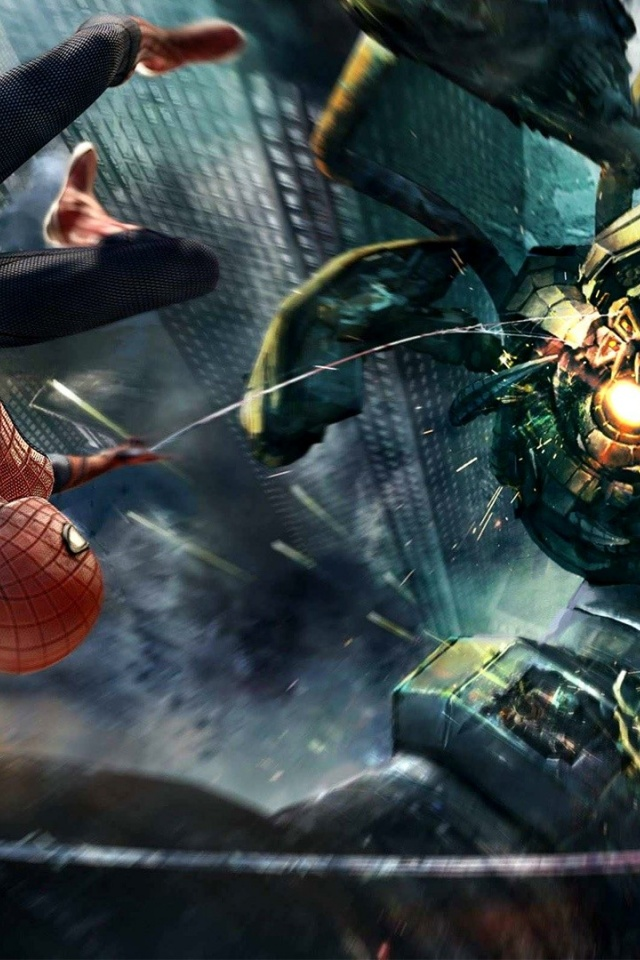 The Amazing Spider Man Wallpaper For Iphone 640x960 Amazing Spider Man Boss Fight Iphone 4 Wallpaper