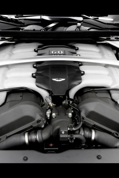 640x960 Aston Martin DB9 Convertible Engine 2 Iphone 4 wallpaper