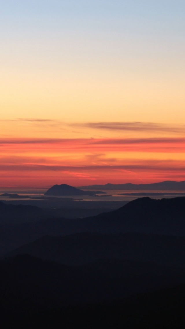 How To Set Wallpaper On Iphone X 640x1136 Awesome Sunset Hilly Mountains Iphone 5 Wallpaper