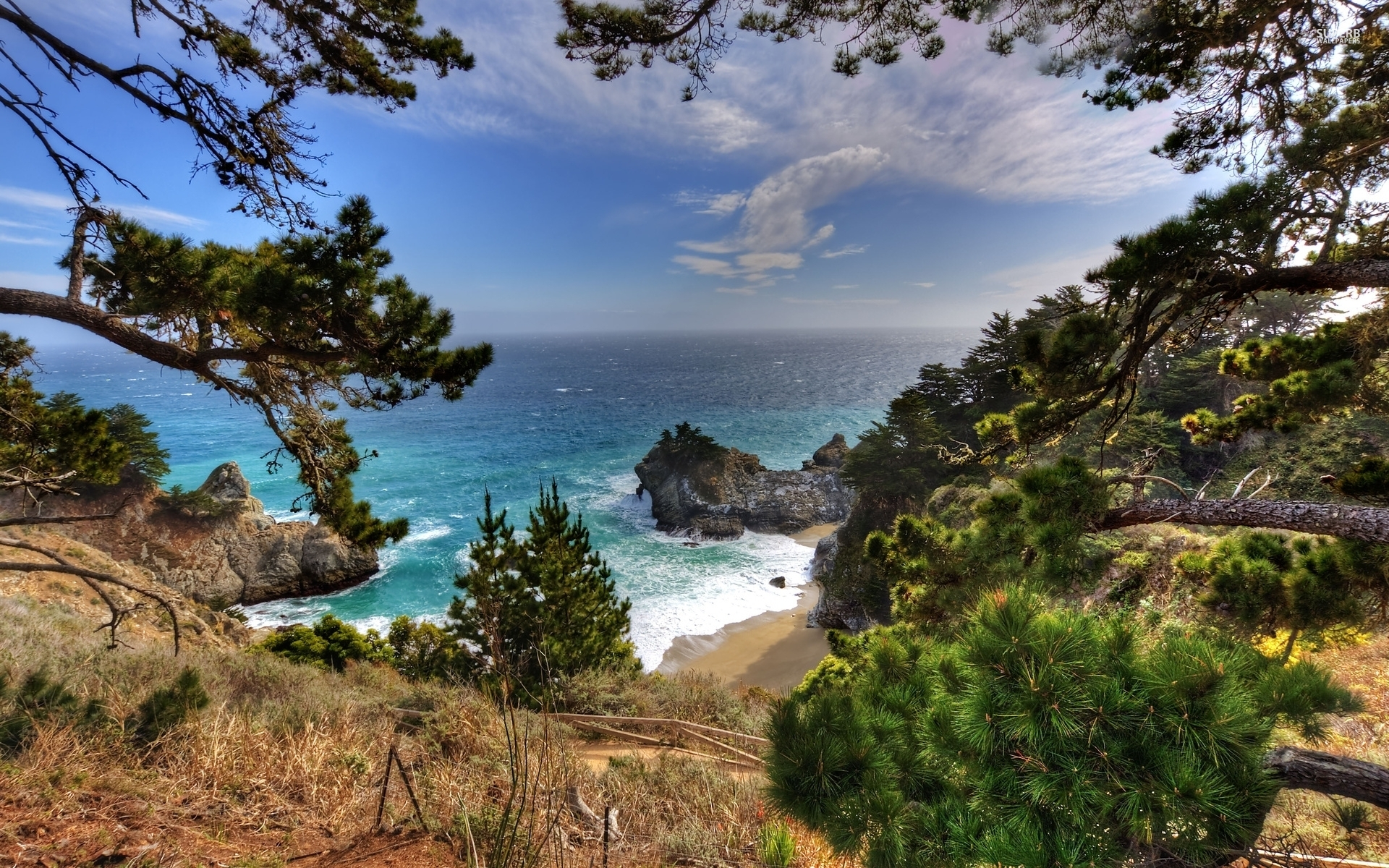 Animated Waterfall Wallpapers For Mobile Big Sur California Lookout Wallpapers Big Sur California