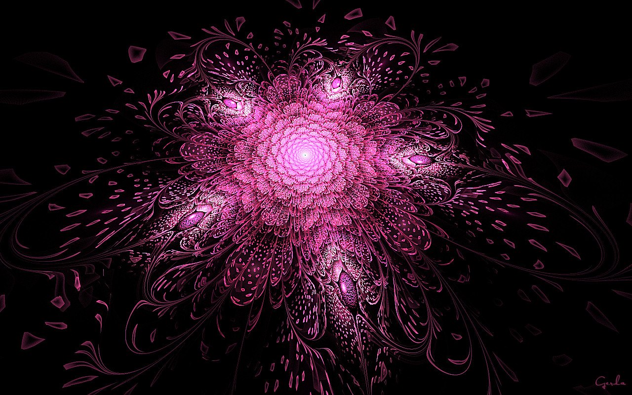Trippy Wallpaper Iphone X Bright Pink Fractal Flower Wallpapers Bright Pink