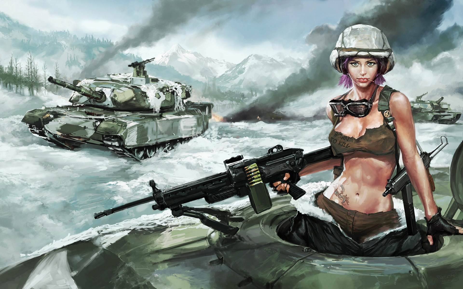 Army Tanks And Girls