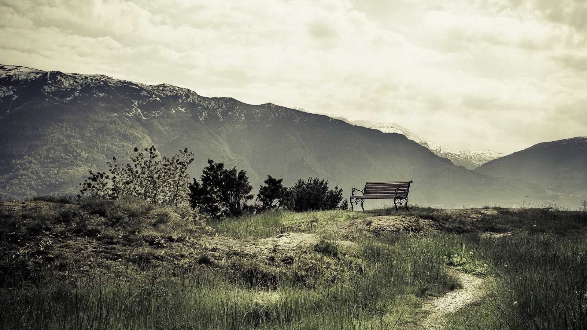 Awesome Hd Wallpapers For Mac 1920x1080 Chill Out Bench Mountains Desktop Pc And Mac