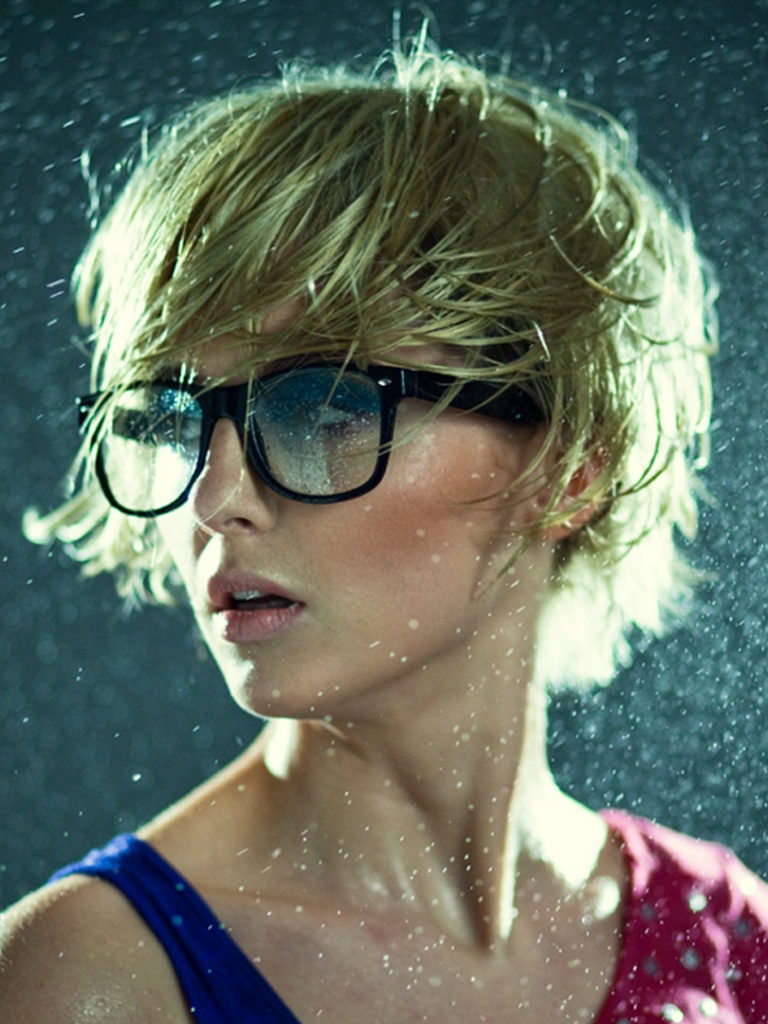 Download Cute Wallpapers For Pc 768x1024 Cute Blonde Girl With Glasses Desktop Pc And Mac