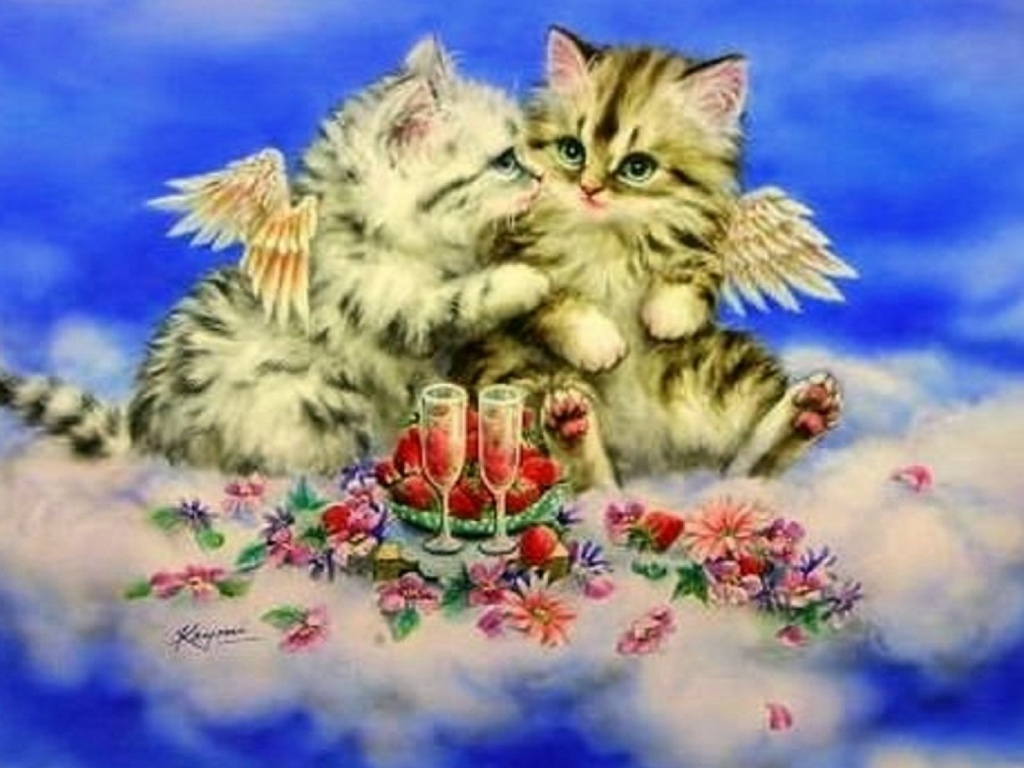 Download Cute Wallpapers For Pc 1024x768 Cute Kittys Heavenly Romantic Desktop Pc And Mac