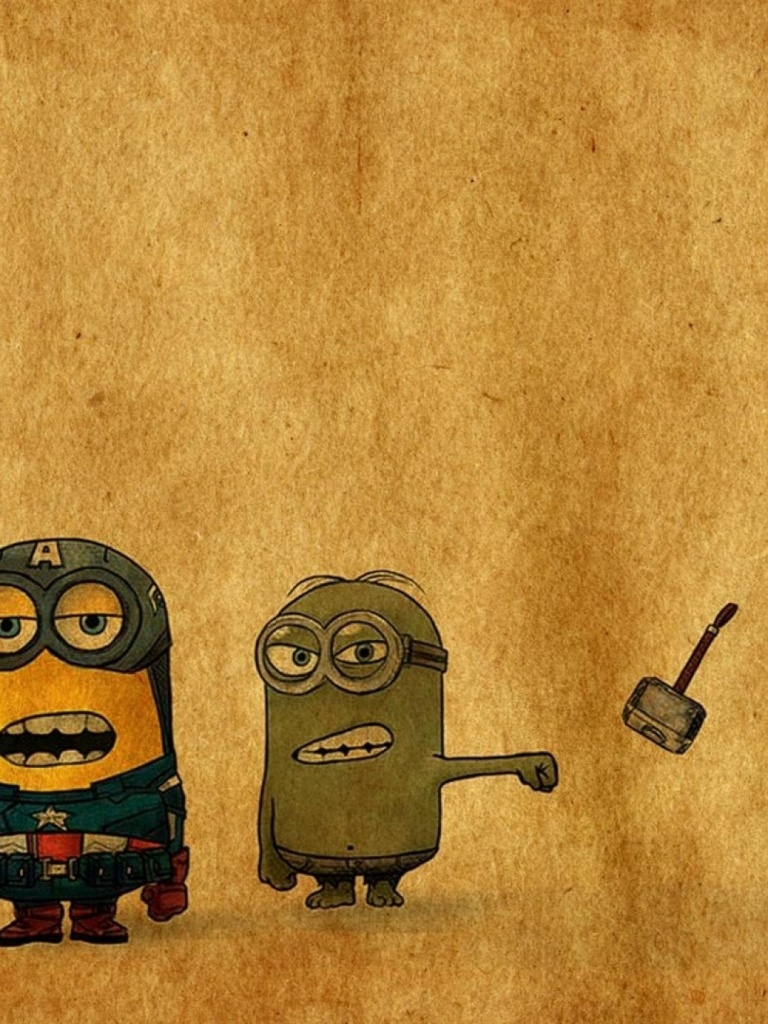 Ipad Mini Wallpaper Hd 768x1024 Despicable Me Vs Avengers Ipad Mini Wallpaper