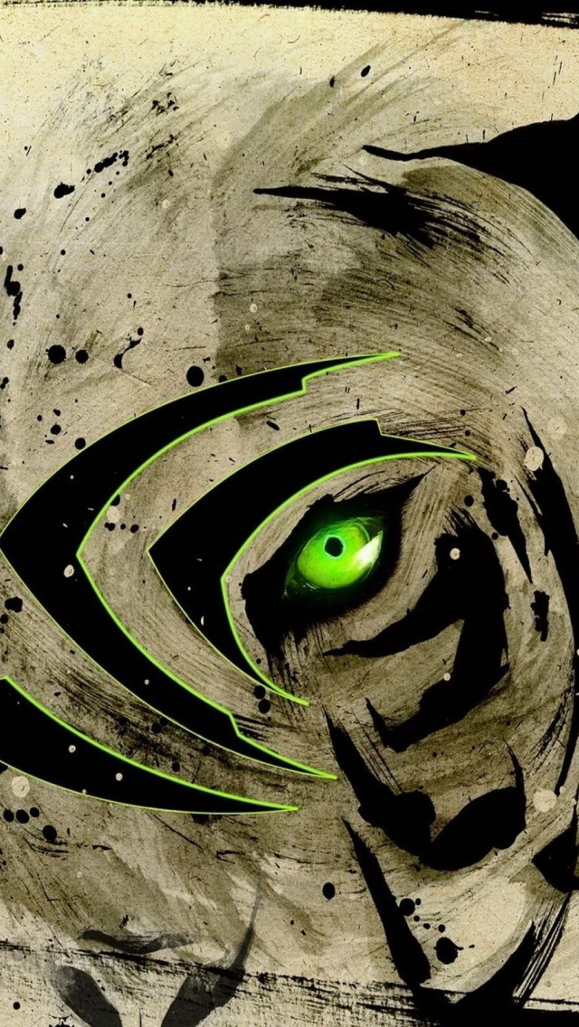 Monster Energy Iphone Wallpaper 640x1136 Eye Of The Tiger Nvidia Iphone 5 Wallpaper