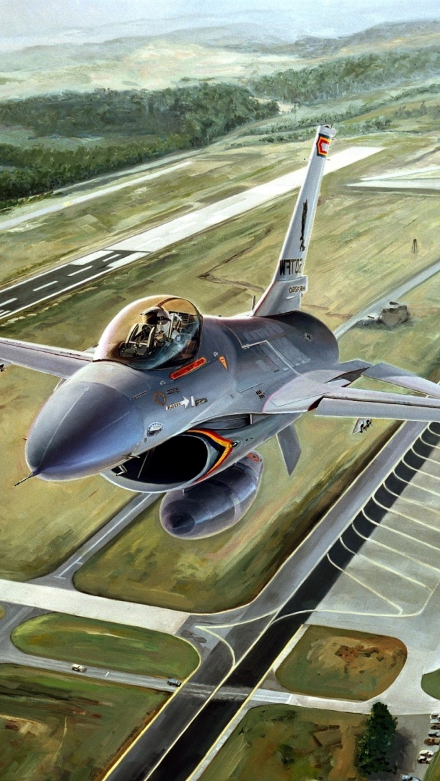 Wallpapers Hd Iphone 5 640x1136 F 16 Fighting Falcon Iphone 5 Wallpaper