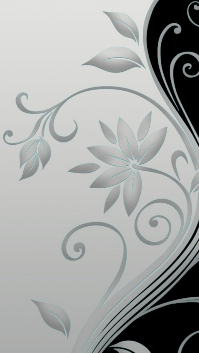 How To Set Wallpaper On Iphone X 640x1136 Flower Stalk Black Amp White Iphone 5 Wallpaper