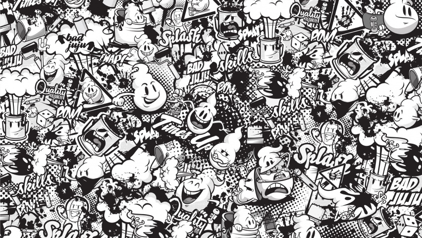 Wallpaper White Black 825x315 Funny Graffiti Black Amp White Facebook Cover Photo