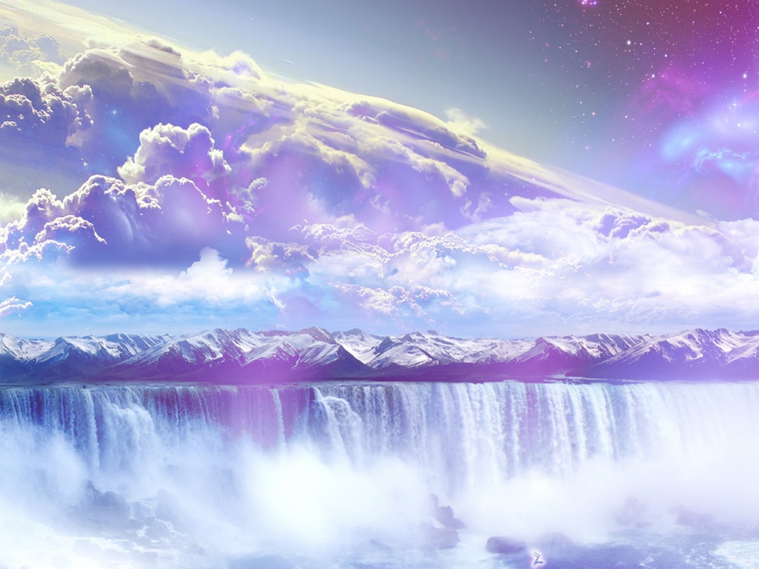 3d Fractal Wallpapers Hd Galaxy Wasserfall Berge Himmel Hintergrundbilder Galaxy