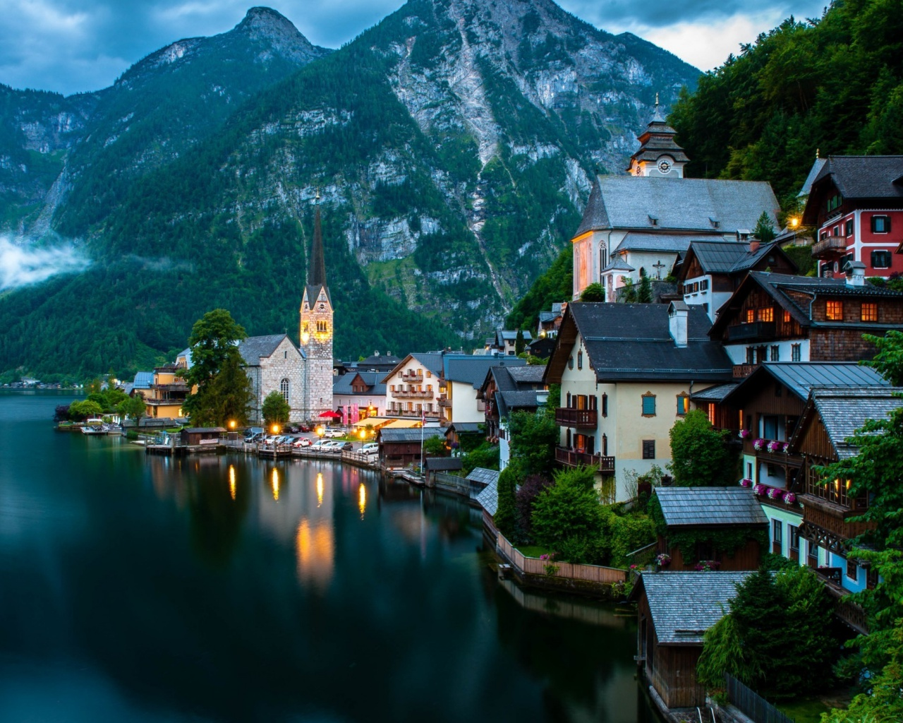 Os X Wallpapers Hd 1280x1024 Hallstatt Austria Desktop Pc And Mac Wallpaper