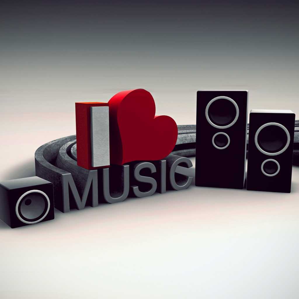 Love Wallpaper Iphone X 1024x1024 I Love Music Ipad Wallpaper