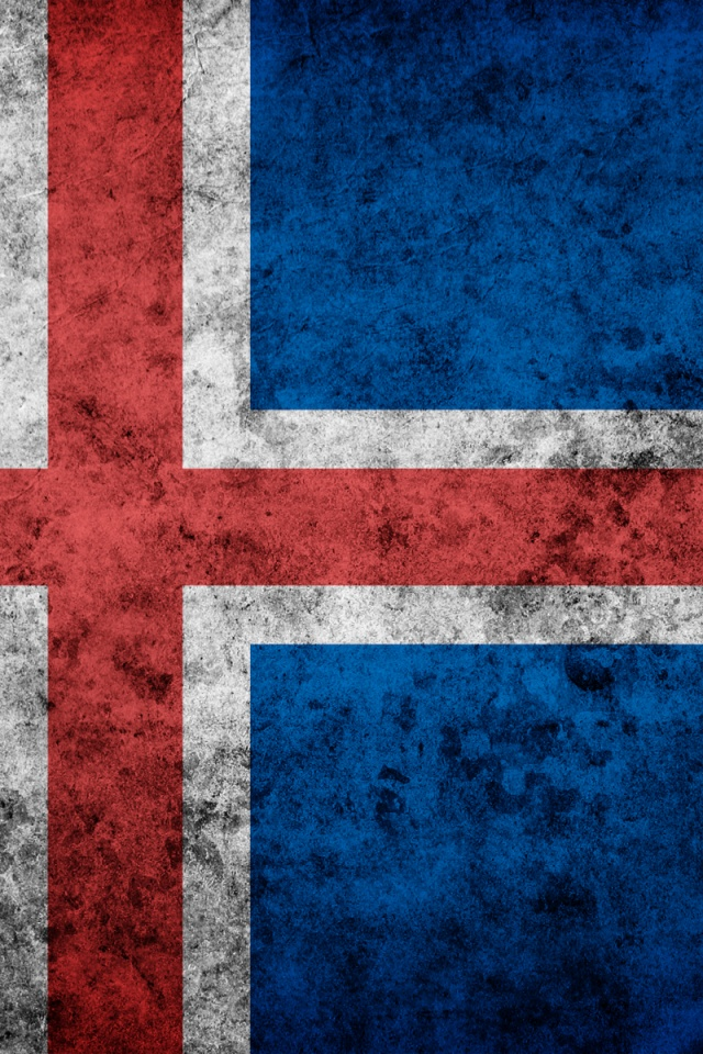 640x960 Hd Wallpapers 640x960 Iceland Grunge Flag Iphone 4 Wallpaper