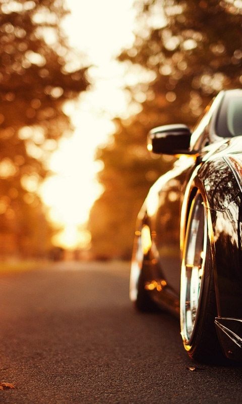 Wallpaper Iphone X Black 480x800 Infiniti G37 Autumn Sun Lumia 900 Wallpaper