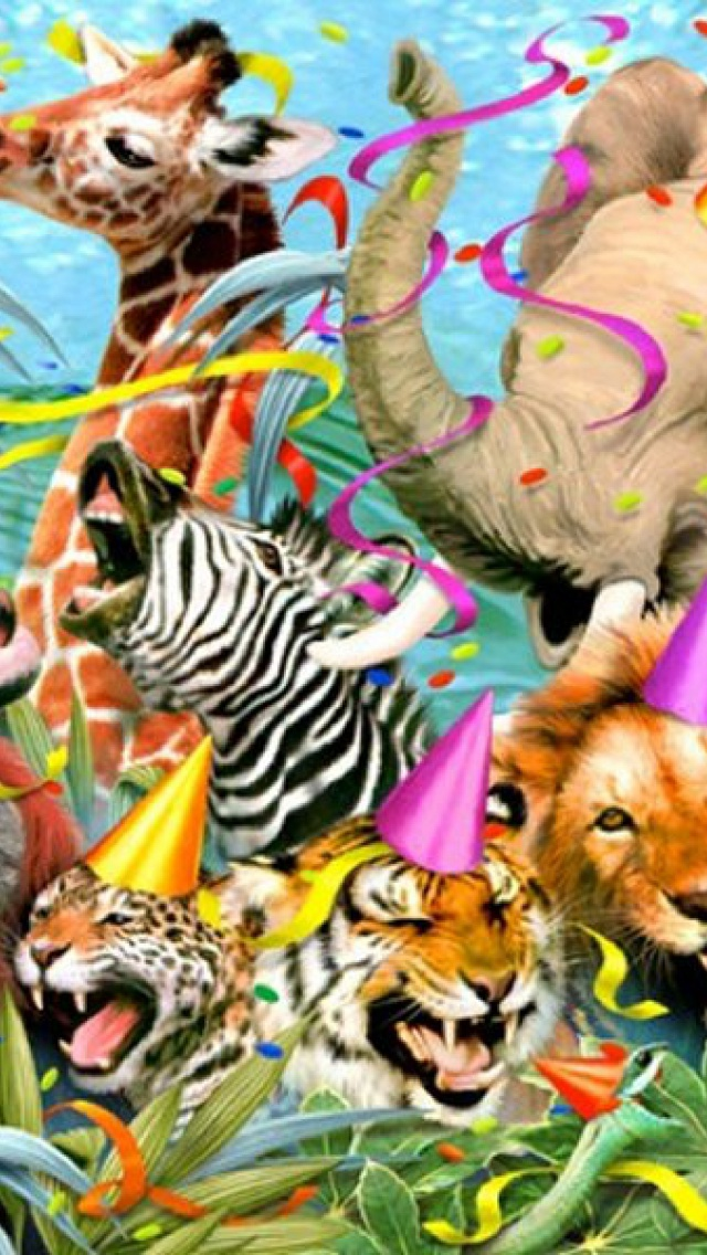 Jungle Wallpaper With Animals 640x1136 Jungle Animals Eight Iphone 5 Wallpaper