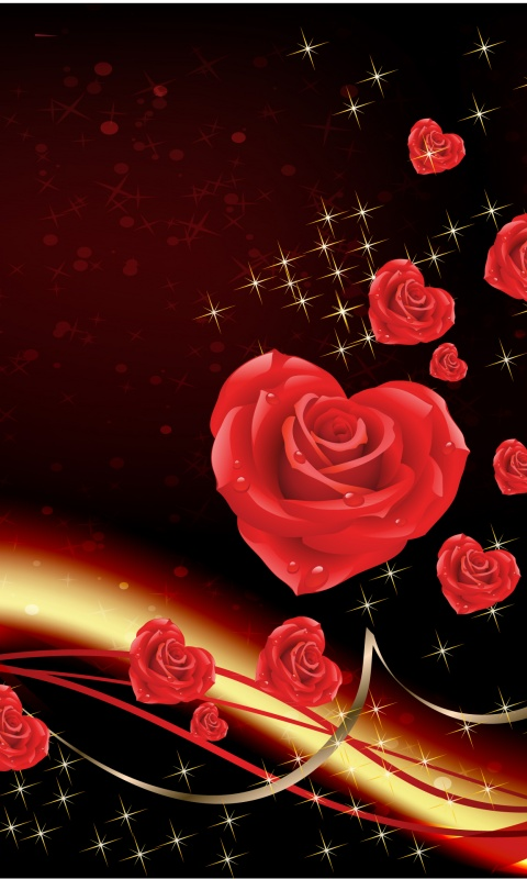 Iphone Wallpapers Hd Free Download 480x800 Love Bringing Roses Galaxy S2 Wallpaper