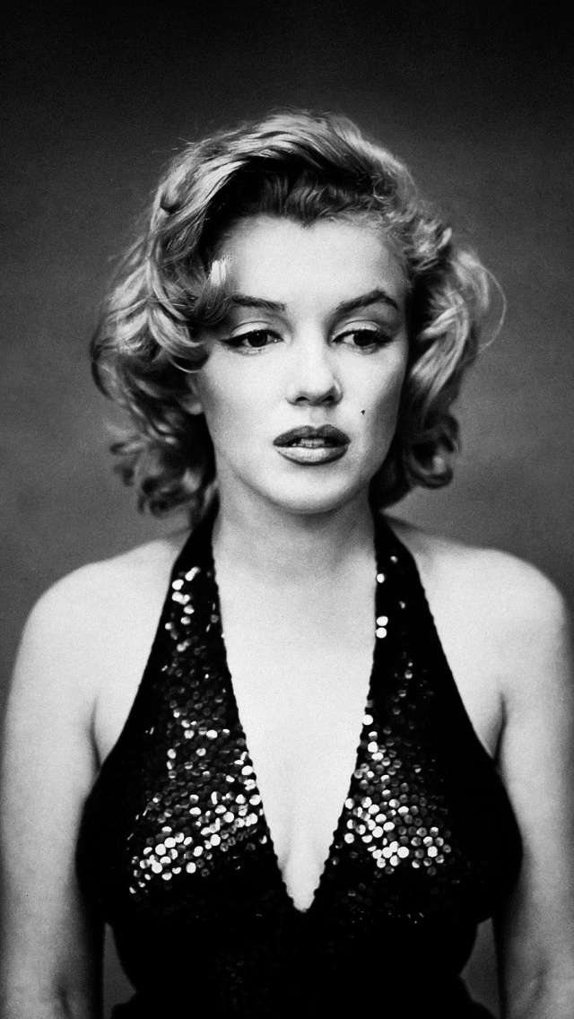 Marilyn Monroe Quotes Iphone Wallpaper 640x1136 Marilyn Monroe Monochrome Iphone 5 Wallpaper