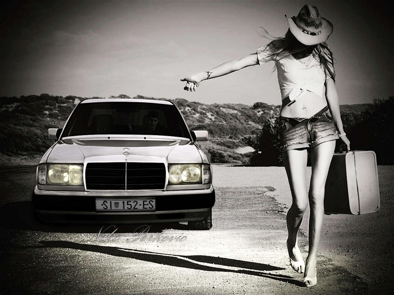 Corvette Girl Wallpaper Mercedes W124 Wallpapers Mercedes W124 Stock Photos