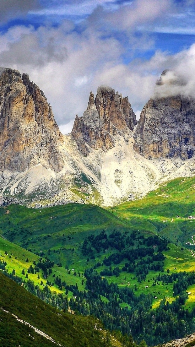 4k Hdr Wallpaper Iphone X 640x1136 Mighty Dolomites Europe Italy Iphone 5 Wallpaper